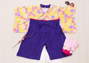 袴ロンパース(女の子)80cm 紫